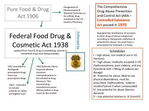 Federal Food Drug & Cosmetic Act 1938