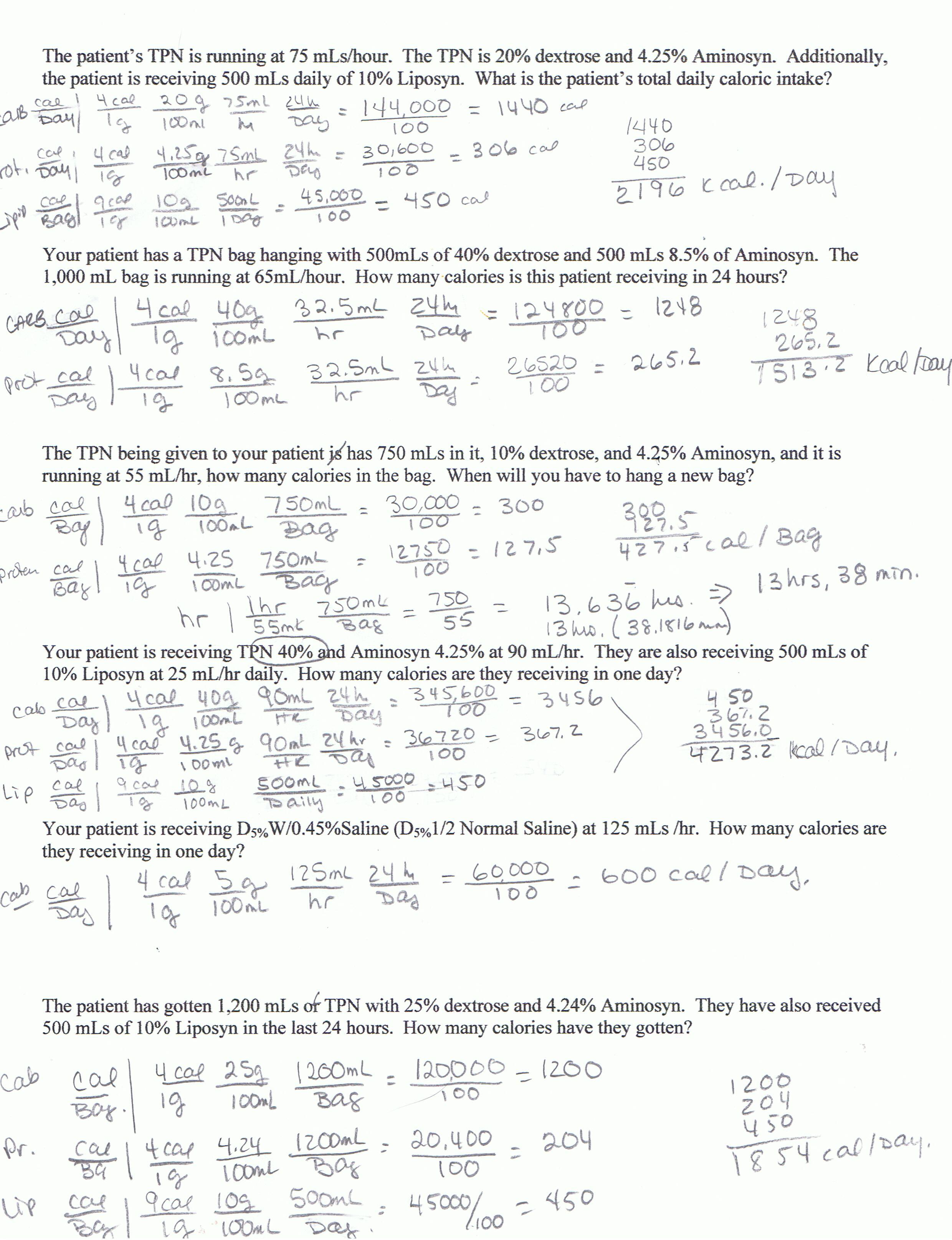 TPN Math Problems « Student Nurse Laura